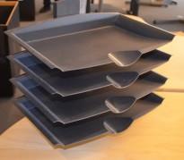 Brevsorterer /  arksorterer for montering på skrivebord, pent brukt