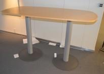 Barbord / ståbord fra Kinnarps i bjerk, 180x90cm, pent brukt