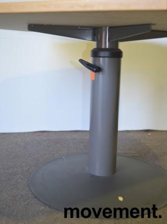 Avlastningsbord sidebord tilskrivebord fra Kinnarps, manuell hevsenk gasslift, plate i bok