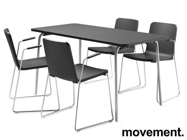 Skandiform Pompidoo stablestol / konferansestol med armlene i sort, pent brukt bilde 1