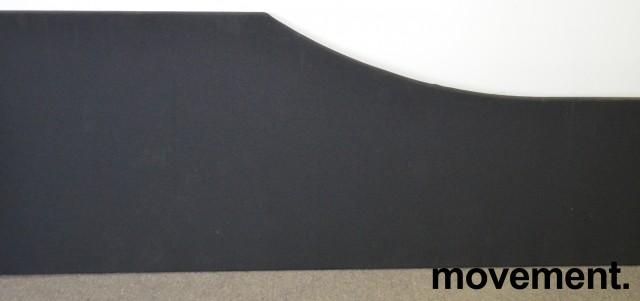Bordskillevegg i sort fra Edsbyn, 180cm bredde, pent brukt bilde 1