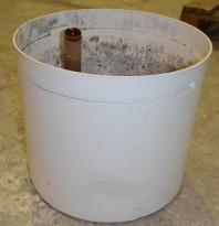 Blomsterpotte / Potteskjuler i hvitt, Ø=40cm, pent brukt
