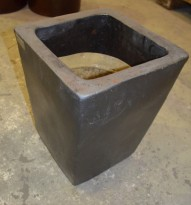 Keramikkpotte, mørk grå, 30x30, 40cm høyde, brukt