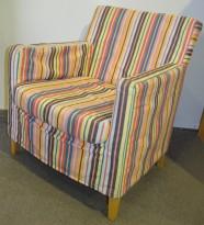 IKEA Karlstad lenestol i mønstret stoff, brukt