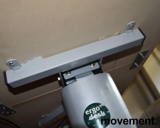 Ergodesk elektrisk hevsenk hjørneløsning 210x164cm, bjerk plate med slitasje, brukt bilde 5