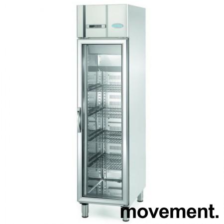 Infrigo AGN300CR, smalt kjøleskap for storkjøkken, med glassdør, 48cm bredde, pent brukt bilde 1