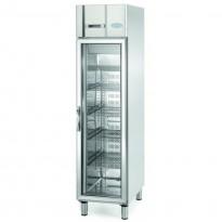 Infrigo AGN300CR, smalt kjøleskap for storkjøkken, med glassdør, 48cm bredde, pent brukt
