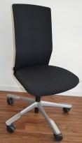 HÅG Futu kontorstol i sort stoff, pent brukt