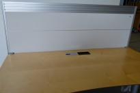Kinnarps Rezon bordskillevegg til kontorpult, 69cm høyde, 180cm bredde, pent brukt