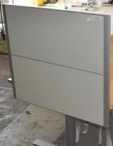 Kinnarps Rezon bordskillevegg til kontorpult, 69cm høyde, 80cm bredde, pent brukt