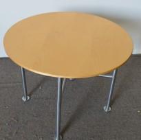 Foraform Program, rundt bord i bjerk, Ø=70cm H=53cm, pent brukt