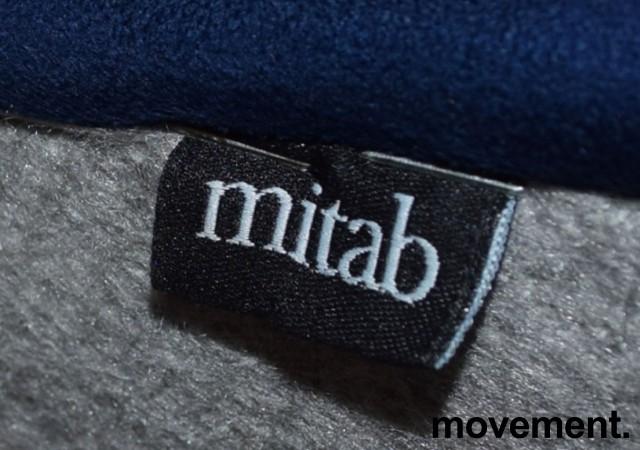 Barkrakk fra Mitab, modell TORO, bøk/blå mikrofiber, 78cm sittehøyde, pent brukt bilde 3