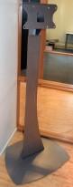 Unicol frittstående stativ til flatskjerm i grålakkert stål, 160cm høyde, pent brukt