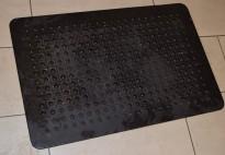 Gummimatte til gulv, avlastningsmatte for knær/ben, 60x90cm, pent brukt