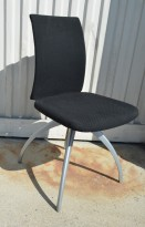 HÅG H05 Visit konferansestol / besøksstol i sort stoff, pent brukt