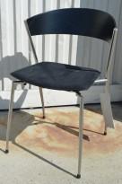 ForaForm Jazz Monk konferansestol i sort, pent brukt