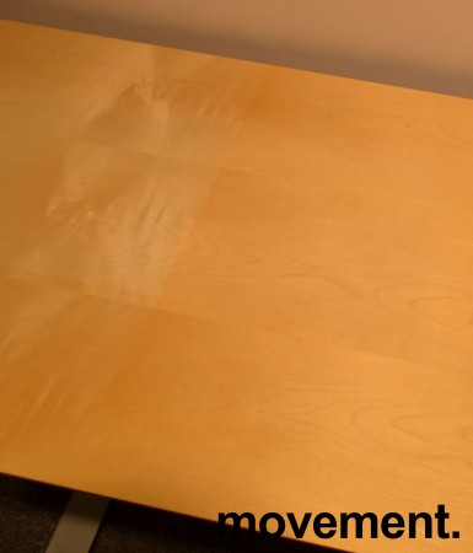 Skrivebord fra Dencon i bjerk, 160x60cm, pent brukt bilde 2