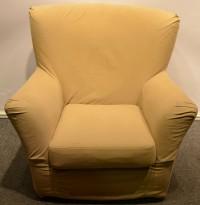 Loungestol fra IKEA i beige stoff, pent brukt