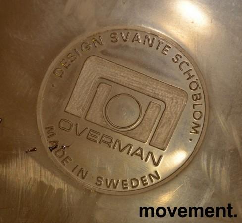 Overman vintage plaststol / skallstol / stablestol i brunt/krom, Design: Svante Schöblom, brukt bilde 3