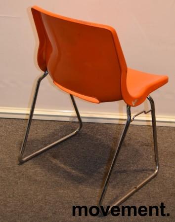 Overman vintage plaststol / skallstol / stablestol i orange/krom, Design: Svante Schöblom, brukt bilde 2