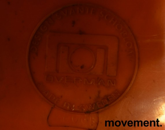Overman vintage plaststol / skallstol / stablestol i orange/krom, Design: Svante Schöblom, brukt bilde 3
