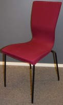 EFG Graf konferansestol, sort ramme, lilla stofftrekk, pent brukt