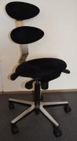 Kontorstol: Spinella, dansk kontorstol med ergonomisk design, sittehøyde 49-69cm, pent brukt