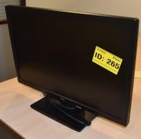 Flatskjerm til PC 22toms, Fujitsu E22W-6, 1680x1050, VGA/DVI, pent brukt
