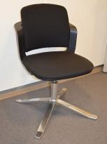 HÅG Sideways konferansestol i sort stoff, pent brukt