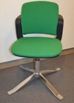 HÅG Sideways konferansestol i grønt stoff, pent brukt