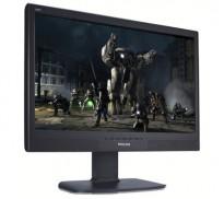Flatskjerm til PC, Philips 240BW i sort med veggfeste, 24toms full HD 1920x1080, pent brukt