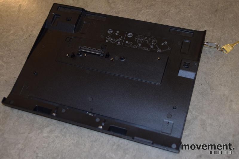 Docking til Lenovo bærbar PC, Ultrabase series 3, med lader pent brukt bilde 1