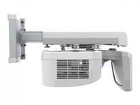 NEC U250X prosjektor med spesiallinse/speil for montering på samme vegg som visning, pent brukt