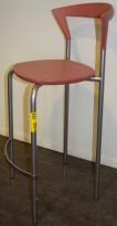 Pelikan Design / Bent Krogh Opus 7202 barkrakk / barstol i lys rød / rosa, 73cm sittehøyde,  pent brukt