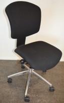 Savo Ikon, kontorstol / konferansestol i sort stoff / krom, pent brukt