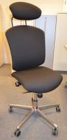 Savo Maxikon kontorstol med nakkepute, nyoverhalt og nytrukket i sort