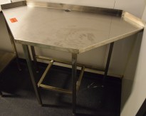 Arbeidsbenk i rustfritt stål, sekskantet plate, se bilder, pent brukt, pent brukt