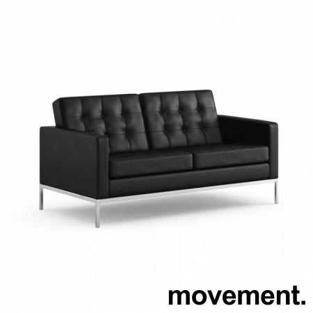 Florence Knoll loungesofa 2seter, original Knoll, nyere modell i strøken stand, PENT BRUKT bilde 4