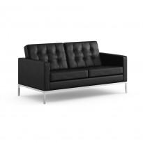 Florence Knoll loungesofa 2seter, original Knoll, nyere modell i strøken stand, PENT BRUKT