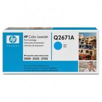 Toner til HP Color LaserJet 3500/3550 - Q2671A / 309A, Cyan/Blå, ORIGINAL/ UBRUKT
