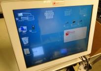 Slank POS-PC/ datakasse i hvitt fra Posligne, Intel-prosessor, med touch-skjerm, pent brukt