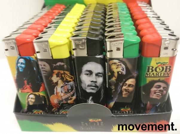 Lightere med Bob Marley-motiv, 50stk i sjokkselger, NY/UBRUKT bilde 2