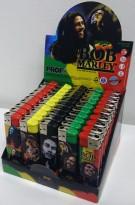 Lightere med Bob Marley-motiv, 50stk i sjokkselger, NY/UBRUKT