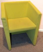 Loungestol i grønt, pent brukt