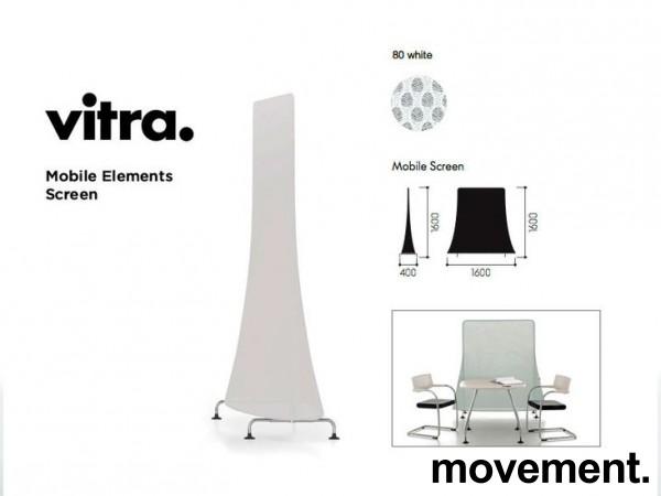 Vitra Mobile Elements Screen, i limegrønn og krom, høyde 162cm, 160cm bredde, pent brukt bilde 7