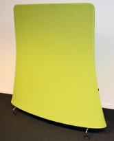 Vitra Mobile Elements Screen, i limegrønn og krom, høyde 162cm, 160cm bredde, pent brukt