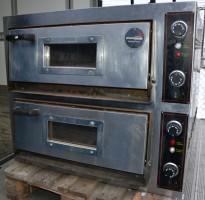 Pizzaovn, 2-kammers, FAGE 6292-2, 230V 3fas 11.5kW, brukt - mangler noen steinplater