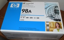 HP Original toner 92298A (98A) Sort toner, passer 4/5-serie Laserjet, NY
