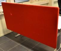 Duba B8 skillevegg / bordskillevegg i rødt stoff, 175x85cm, pent brukt