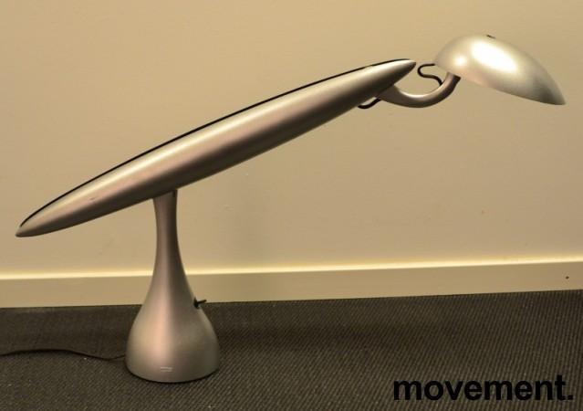 Luxo Heron skrivebordslampe i grått, Design: Isao Hosoe, pent brukt bilde 1